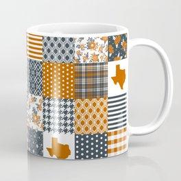 Texas longhorns university quilt pattern gifts sports fan varsity football fan Coffee Mug
