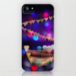 Christmas bokeh iPhone Case