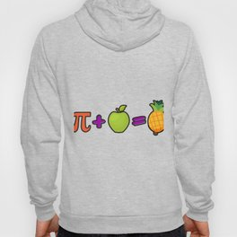 Pineapple Pi Science Geek Mathematics Symbol Humor Hoody