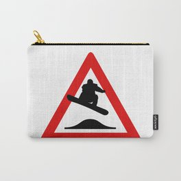 Snowboard road sign Carry-All Pouch
