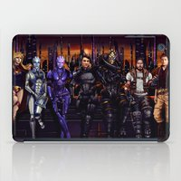 garrus iPad Cases featuring Mass Effect - Team of Awesomness by Amber Hague