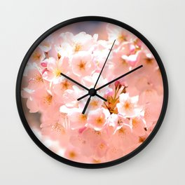 Pretty Pink Spring Blossoms :) Wall Clock