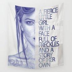 Fierce little girl Wall Tapestry