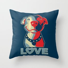 Pitbull - Love Throw Pillow