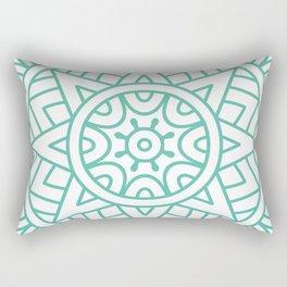 Green Floral Pattern Rectangular Pillow
