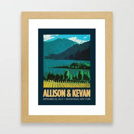 Vineyard Print Framed Art Print