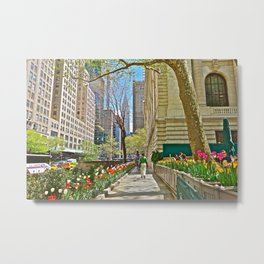 Tulips at the the New York Public Library Metal Print