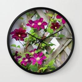 Royal Clematis Wall Clock