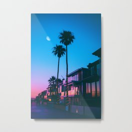Palmy Night Out | California Sunset  Metal Print