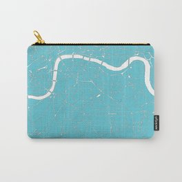 London Turquoise on White Street Map Carry-All Pouch