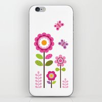 mod iPhone & iPod Skins featuring MOD GARDEN by Daisy Beatrice