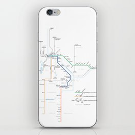 Twin Cities METRO System Map iPhone Skin