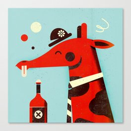 Drunk giraffe ... Canvas Print