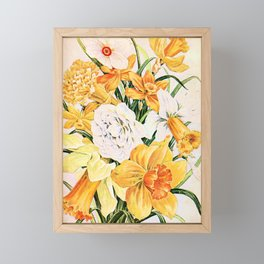 Wordsworth  and the daffodils. Framed Mini Art Print