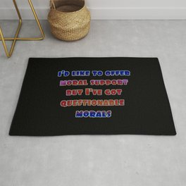 "Funny ""Questionable Morals"" Joke Rug"