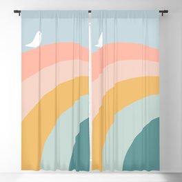 boho rainbow in soft & trendy colors, minimalism Blackout Curtain