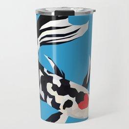 Geo Koi Black & White Travel Mug