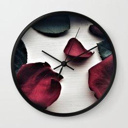 Fallen Roses Wall Clock