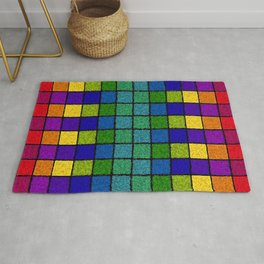 Sponged Chex Rug