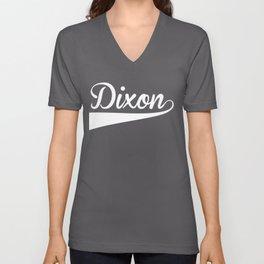 DIXON Baseball Vintage Retro Font Unisex V-Neck