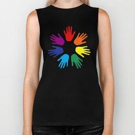 Rainbow hands Biker Tank