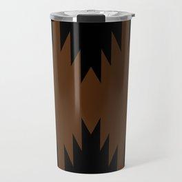 Geometric Southwestern Minimalism - Desert Orange Travel Mug