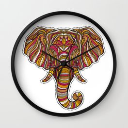 Ethnic elephant Wall Clock