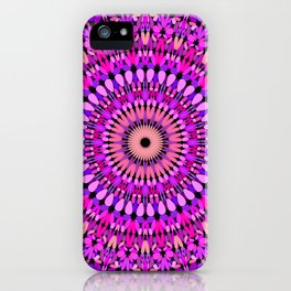 Pink and Purple Gravel Mandala iPhone Case