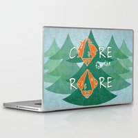 rare Laptop & iPad Skins featuring Care for the rare by SilviaGancheva
