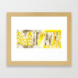 Yellow windows Framed Art Print