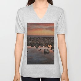 Gibraltar, Africa and Spain in one photo Unisex V-Neck