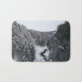 Winter in Quechee Gorge, VT Bath Mat