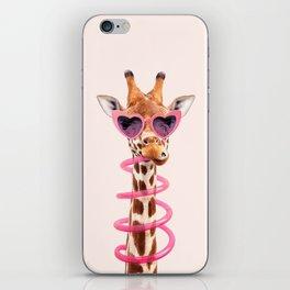 THIRSTY GIRAFFE iPhone Skin
