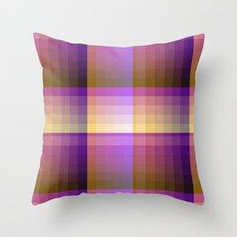 Complimentary Color Harmony ..Yellow /purple Throw Pillow