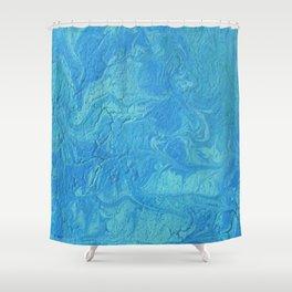 Blue Coaster 2 Shower Curtain