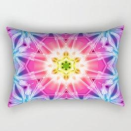 Crystal Hexagon Mandala Rectangular Pillow