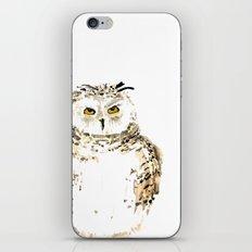 Snowy Owl watercolor iPhone & iPod Skin