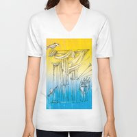 theater V-neck T-shirts featuring Theater by Boris Burakov