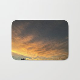 yellow/orange sky Bath Mat