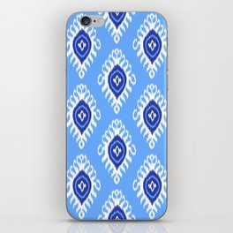 IKAT pattern 02, blue iPhone Skin