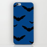 bats iPhone & iPod Skins featuring Bats by Jessica Slater Design & Illustration