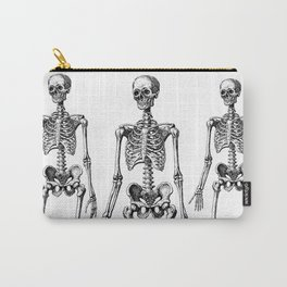 Three Skeletons Carry-All Pouch