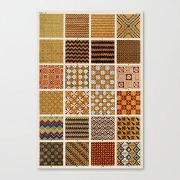 Egyptian Patterns, Vintage Design Canvas Print