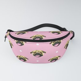 Baby Pink Pug Face Pattern Fanny Pack