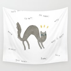 Scaredy Cat Wall Tapestry