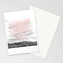 Matthew 5:14-16 Stationery Cards