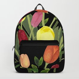 Tulips - black Backpack