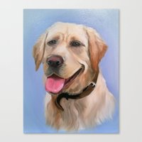 labrador Canvas Prints featuring Labrador by OLHADARCHUK