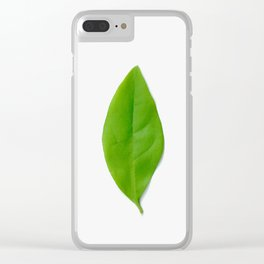 Brisk Bright Leaves Clear iPhone Case