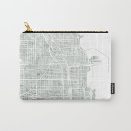 Map Chicago city watercolor map Carry-All Pouch